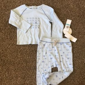 2 piece footie outfit.